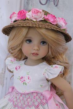 "Smocked Dress Ensemble for Effner 13"" Little Darling by Doll Heirloom Designs #DollHeirloomDesigns"