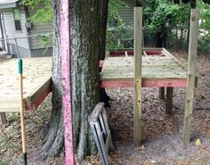 Platform structure for treehouse