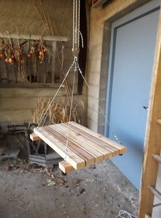 Attic Lift, Garage Attic, Small Electric Winch, Pub Sheds, Facon, Porch Swing, Outdoor Furniture, Outdoor Decor, Old Houses