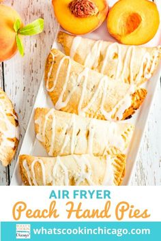 Air Fryer Peach Hand Pies Easy No Bake Desserts, Desserts For A Crowd, Fancy Desserts, Delicious Desserts, Dessert Recipes, Yummy Food, Gluten Free Bars, Homemade Snickers, Hand Pies