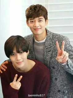 Cute picture of Minho and Taeminnie Oppa!