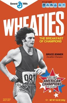 1977 Bruce Jenner on the Wheaties box