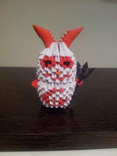 ORIGAMI 3D. DEVILS: The Clown Rabbit 666, piezas de 6x4 cnts.