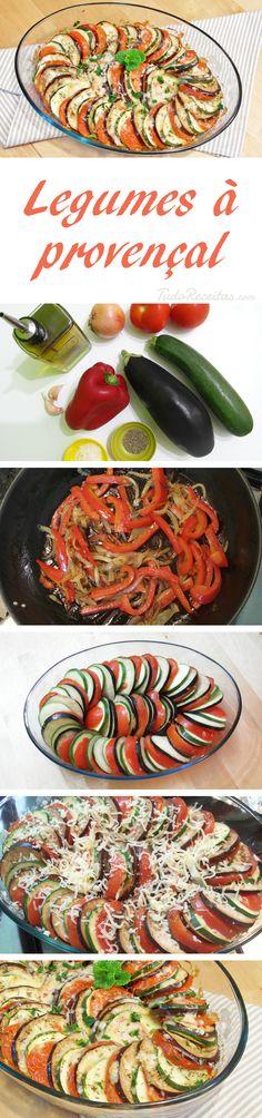 Receita de legumes francesa, também conhecida como tian de légumes e tian provençal.
