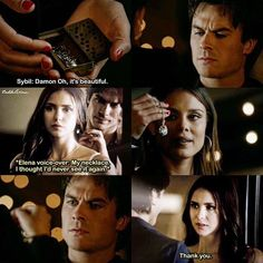 """[8x07 """"The Next Time I Hurt Somebody, It Could Be You""""] I can't believe after 8 years, the necklace remains possibly the most important token of Damon and Elena's relationship. I can't stop crying"""