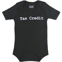 Silly Souls Newborn Baby Boy or Girl Unisex Tax Credit Bodysuit, Size: 12 - 18 Months, Black