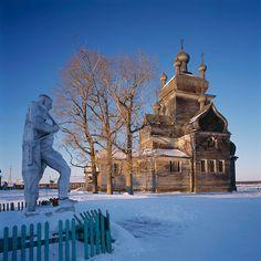 Wooden church in Russian so beautiful