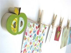 Items similar to Apple Art Display Clips - eco-friendly - by Maple Shade Kids on Etsy Art For Kids, Crafts For Kids, Kid Art, Childrens Art Display, Apple Art, Diy Fashion Accessories, Fabric Stamping, Kids Artwork, Kids Wood