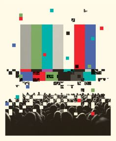 Social Media Takes Television Back in Time. Illustration for the...