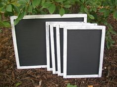 Chalkboards make GREAT photo props for engagement photo's, wedding decor and have many other uses! Get your chalkboards @ www.shabbyweddingdecor.com  OR  www.Etsy.com/shop/shabbyweddingdecor  OR  Like us on Facebook @ www.facebook.com/shabbywedding