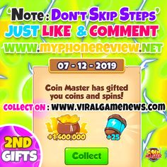 Are you tired of having less and less Coin and Spins? Not anymore because with this Coin Master How do you get free spins for coin master? What is the point of coin master? November 18 2019 at >>*UPDATE New trick to get free spins and coin Daily Rewards, Free Rewards, Miss You Gifts, Coin Master Hack, What's The Point, New Tricks, Free Website, Free Games, Revenge