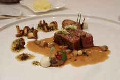 Dry-Aged Fillet of Beef with Wild Asparagus, Fresh Washabi, Bone Marrow & Thyme