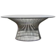 Warren Platner Chrome Coffee Table 1