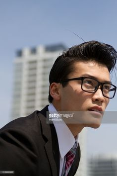 Young business man has a lunch break