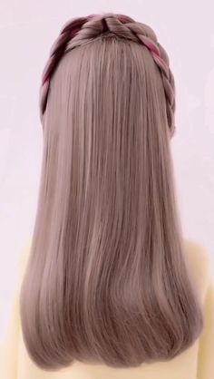 Hairstyles for Girls in 2019 - Haircut and Hairstyle Ideas Easy Hairstyles For Long Hair, Braided Hairstyles Tutorials, Pretty Hairstyles, Girl Hairstyles, Hairstyle Ideas, Updo Hairstyle, Wedding Hairstyles, Front Hair Styles, Medium Hair Styles