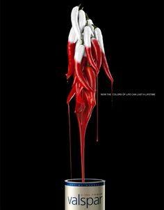 Now the colors of life can last a lifetime. Valspar Paints Ads by EURO RSCG