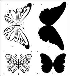 Stencil It Book Butterflies stencils, stensils and stencles