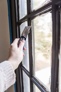The Best Trick for Painting French Doors - Bless'er House Black French Doors, French Doors Patio, Black Doors, Black Windows, Black Window Frames, Interior Barn Doors, Interior Paint, Interior Design, Interior Ideas