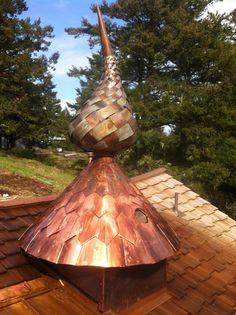 Copper & Nickel. Hand cut each shingle