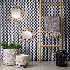vidaXL Miroir d/écoratif Teck 60 x cm Carr/é