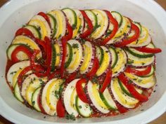 ratatouille with squash | American Homestead: Elle's Kitchen: Layered Ratatouille