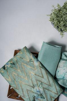 Explore Unstitched Suits, Salwar Suits in Hand Block, Lucknowi Chikan, Phulkari & more variety. Salwar Dress, Salwar Suits, Indigo Prints, Floral Prints, Fancy Dress Material, Simple Kurti Designs, Churidar Designs, Womens Dress Suits, Indian Designer Suits