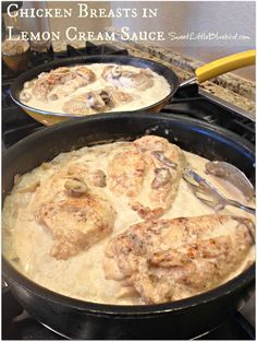CHICKEN BREASTS IN LEMON CREAM SAUCE  |  SweetLittleBluebird.com