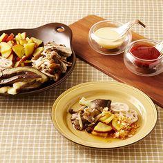 蒸し秋野菜の薫りタレ