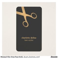 Rustic wood black with golden shears comb business card rustic chic business card template with dark grey background and faux gold scissor pattern minimal colourmoves