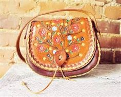 Vintage Hand Tooled Leather Bag | Accessories - belts, hair accents ...