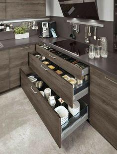 Kitchen Cupboard Designs, Kitchen Room Design, Diy Kitchen Storage, Modern Kitchen Design, Kitchen Layout, Home Decor Kitchen, Interior Design Kitchen, Best Kitchen Designs, Kitchen Furniture