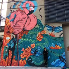 Murals Street Art, Mural Art, Street Art Graffiti, Wall Mura… – Graffiti World Murals Street Art, Street Wall Art, Graffiti Wall Art, Mural Wall Art, Street Art Graffiti, Kunst Inspo, Art Inspo, Garden Mural, Urbane Kunst