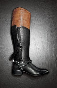 love the edge these studs give these riding boots, makes me wish i rode horses