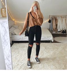 Trendy Fall Outfits, Casual School Outfits, Cute Comfy Outfits, Teenage Outfits, Winter Fashion Outfits, Retro Outfits, Simple Outfits, Stylish Outfits, Mode Für Teenies