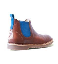 Chelsea boot cognac/blue buisjesenbeugels