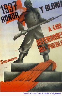 Spain - 1937. - GC - poster - autor: Garay
