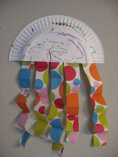 Paper plate Jelly Fish Archives - No Time For Flash Cards