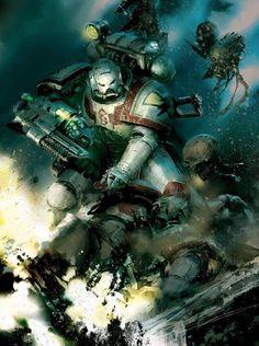 "warhammer-fan-art: ""Apothecary (Artist Unknown) """