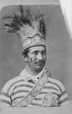 SakatisAientonni (aka Baptiste Canadien) a Lacrosse player in Montreal, Quebec -Iroquois (Mohawk) – 1876