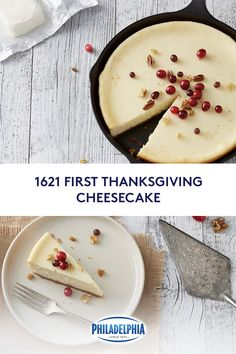Make your Thanksgiving dessert the original with our 1621 First Thanksgiving Cheesecake. It combines. First Thanksgiving, Thanksgiving Desserts, Holiday Desserts, Holiday Recipes, Cheesecake Desserts, Cheesecake Bites, Pumpkin Cheesecake, Desserts To Make, Food To Make