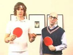 The OK Go table tennis program Ok Go, The Ok, Good Music, Ronald Mcdonald, Champion, Guys, Random Humor, Funny, Youtube
