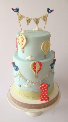 48 Ideas baby shower cake for boys cupcakes birthday parties Baby Cakes, Baby Shower Cakes, Cupcake Cakes, Pretty Cakes, Cute Cakes, Beautiful Cakes, Amazing Cakes, Hot Air Balloon Cake, Air Ballon
