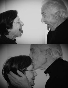 I love seeing pictures of happy older couples. There seems to be such a stigmata of showing old couples. Everybody has to be young, beautiful, and perfect. But that's not realistic. We're all going to age (if we're lucky). I look forward to it. Especially if I will get to be as happy as these 2 are. :)