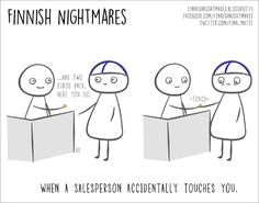"""Cartoons of """"Finnish Nightmares"""" All Introverts Can Relate To"""