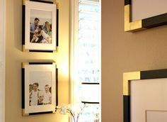 dress up frames with spray-painted tape corners