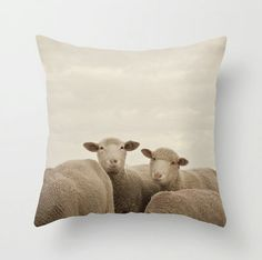 Count the Smiling Sheep!  Pillow Case  Smiling Sheep  Nature Home Decor  von DreamyPhoto, $32.00