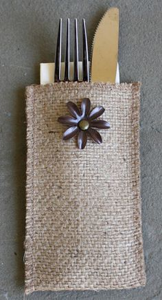 Metal Flower Design - vintage to the MAX! Set of eight pouches for $24