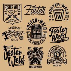 Смотрите это фото от @lincolndesignco на Instagram • Отметки «Нравится»: 1,067 Logos Vintage, Vintage Logo Design, Retro Logos, Vintage Type, Lettering, Typography Logo, Logo Branding, Typography Design, Design Logo