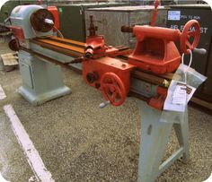 1963, Oliver Wood Turning Lathe Machine. Create and build with surplus from GovLiquidation.