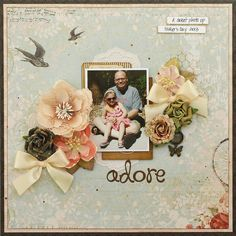 Scrapbook page by Kris Berc: Kaisercraft On This Day: My Creative Scrapbook kit club August Limited Edition kit